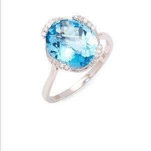 Effy diamond & topaz ring NWT size 7